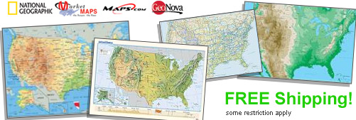 World's largest selection of Physical USA Wall Maps