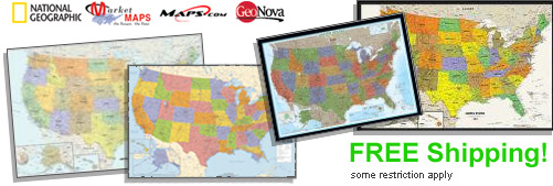 World's largest selection of Political USA Wall Maps