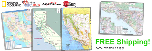 World's largest selection of California Wall Maps