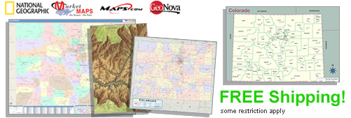 World's largest selection of Colorado Wall Maps