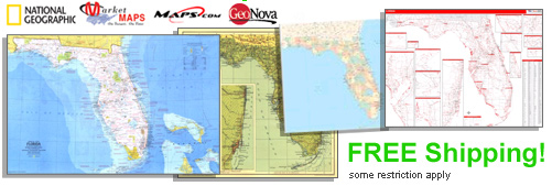 World's largest selection of Florida Wall Maps