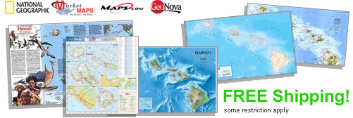 World's largest selection of Hawaii Wall Maps