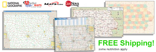 World's largest selection of Iowa Wall Maps