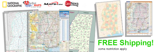 World's largest selection of Mississippi Wall Maps