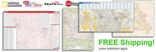 World's largest selection of Missouri Wall Maps