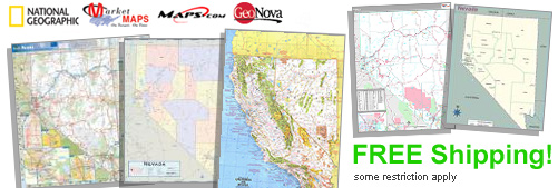 World's largest selection of Nevada Wall Maps