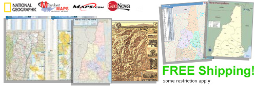 World's largest selection of New Hampshire Wall Maps