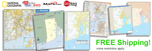 World's largest selection of Rhode Island Wall Maps