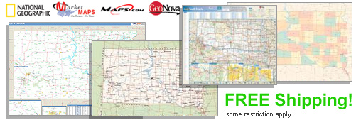 World's largest selection of South Dakota Wall Maps