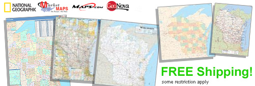 World's largest selection of Wisconsin Wall Maps