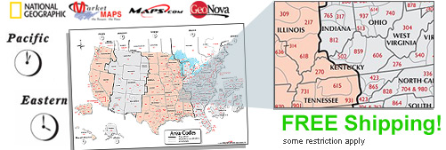 World's largest selection of Time Zone USA Wall Maps