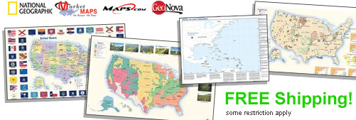 World's largest selection of Topical USA Wall Maps