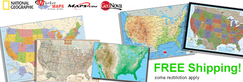 World's largest selection of USA Wall Maps