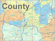 County Demographic Wall Maps
