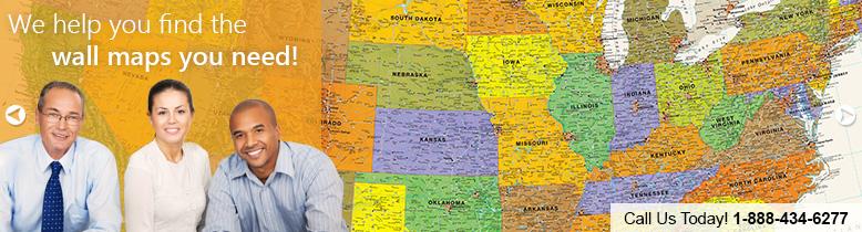 Wall Maps MapSalescom - Us wall maps for sale