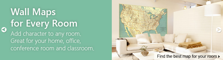Interior Decor Wall Maps