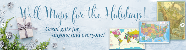 Wall Maps for the Holidays! Great gifts for anyone and everyone!