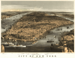 1856 New York Antique Wall Map