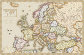 Europe Antique Wall Map