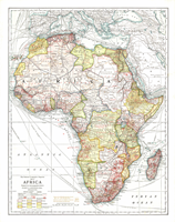 Africa 1909 Wall Map