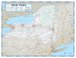 New York County Highway Wall Map