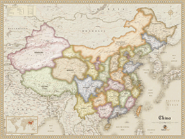 China Antique Wall Map