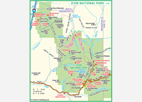 Zion National Park Wall Map