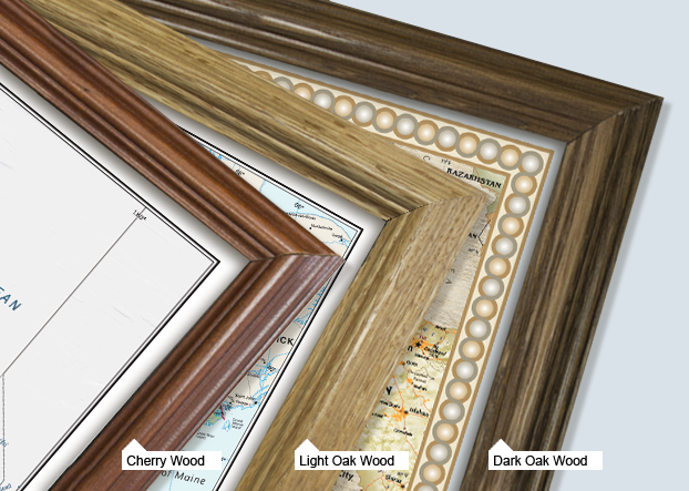 Executive Framed Wall Maps Example