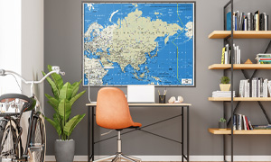 Shop for interior decor wall maps for home offices.