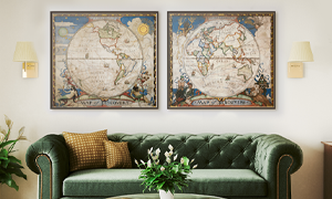Shop for interior decor wall maps for living rooms.