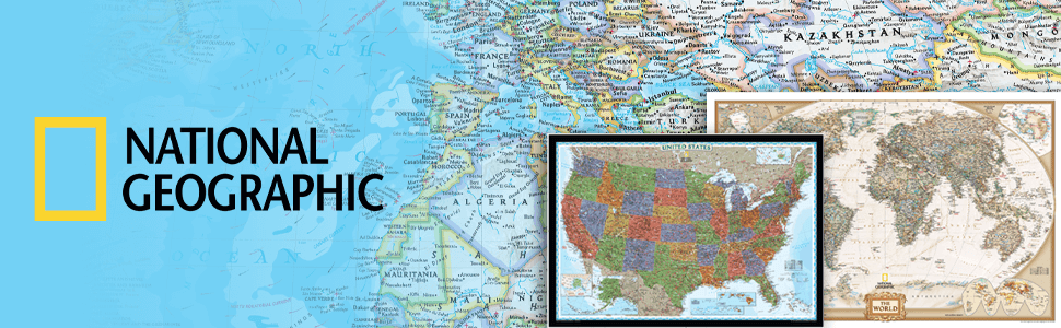 Get National Geographic wall maps.