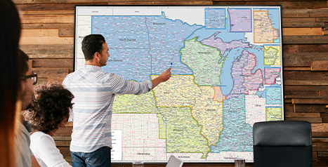Make Better Decisions with Sales Territory Wall Maps