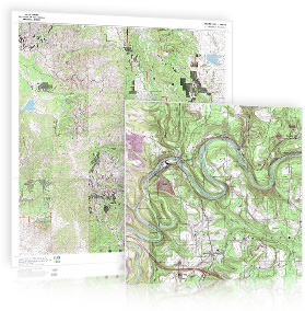 Detailed Topographic Wall Maps from the USGS and National Geographic