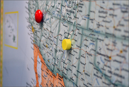 Magnetic Wall Maps - Large us wall map