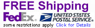 Free Shipping via Fedex and USPS. Click for Details.