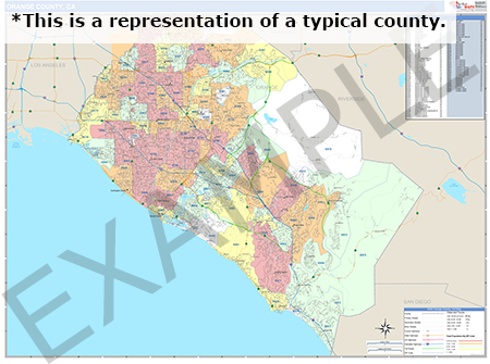 Willacy County, TX  Demographic Wall Map