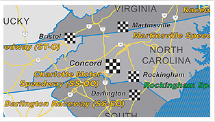 Racetrack Wall Map By Marketmaps - Us-track-map-it