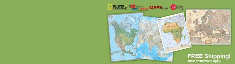 World's largest selection of Continent Wall Maps