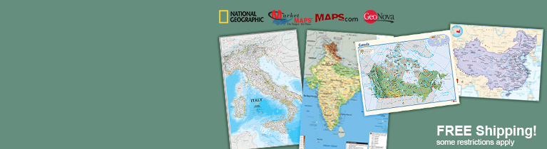 World's largest selection of Country Wall Maps