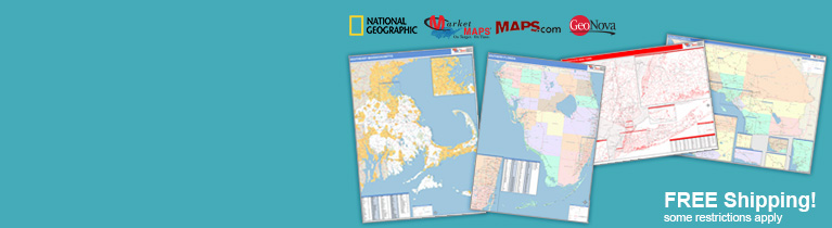 World's largest selection of State Sectional Wall Maps