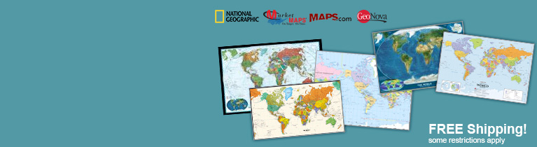 World's largest selection of World Wall Maps