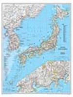 Japan/Korea Political Wall Map