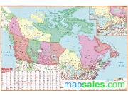Canada Primary Classroom Wall Map