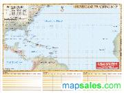 US Hurricane Chart Wall Map