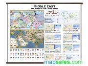 Middle East Classroom Wall Map