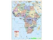 Africa Classroom Wall Map
