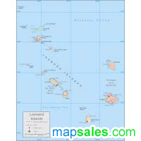 Leeward Islands Wall Map