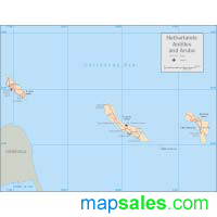 Netherland Antilles Wall Map