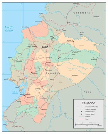 Ecuador Wall Map