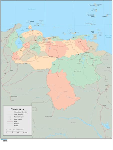 Venezuela Wall Map